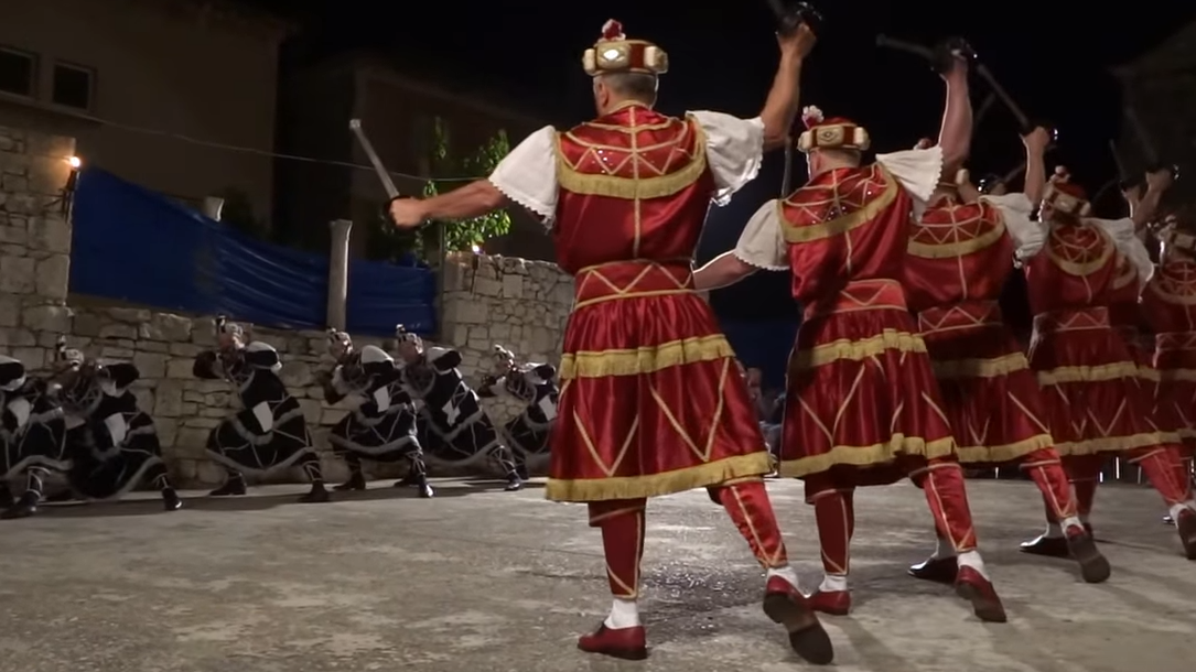 korcula moreska knights dance